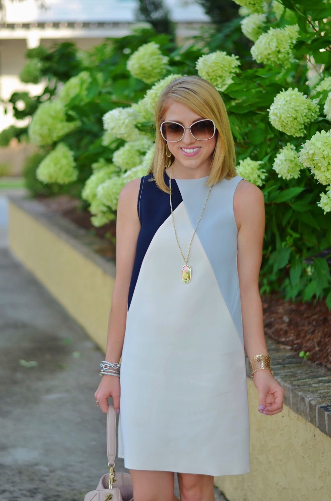Something Delightful: Colorblock Shift Dress