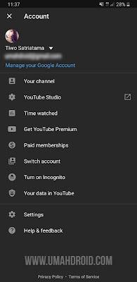 Pengaturan Akun Youtube