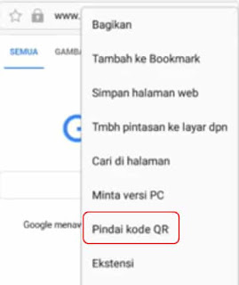 scan bardcode samsung di google chrome