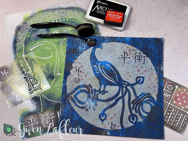 Printmaking with Stencils - Tutorial Step 4 - Gwen Lafleur