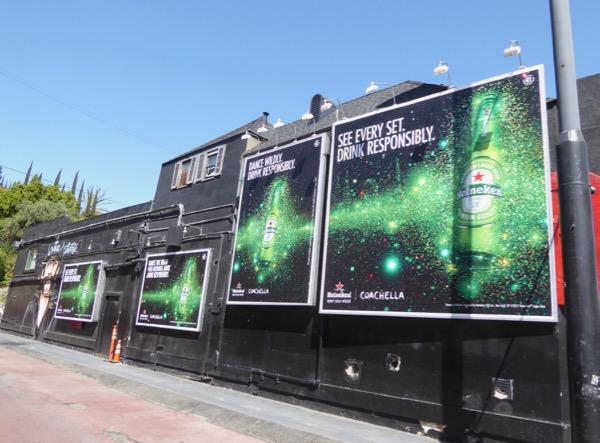 Heineken Beer Coachella billboards