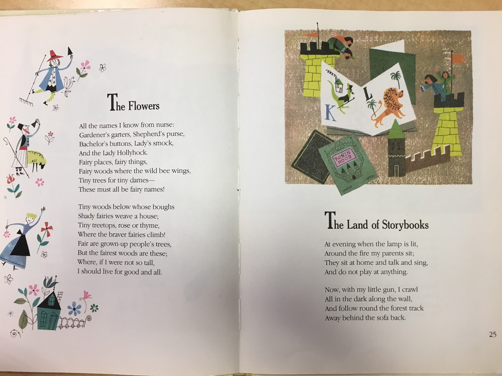 heres the next page from the 1963 edition - A Childs Garden Of Verses