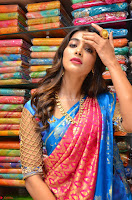 Puja Hegde looks stunning in Red saree at launch of Anutex shopping mall ~ Celebrities Galleries 040.JPG