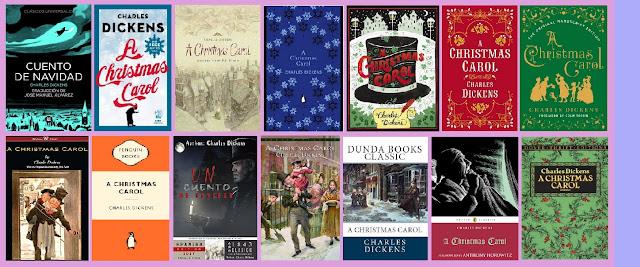 portadas de la novela clásica de fantasía Cuento de Navidad, de Charles Dickens