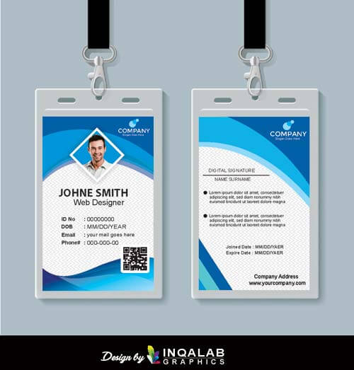 Company Id Card Design Download Free Vector Coreldraw Templates Cdr File
