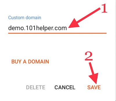 How to create and setup sub domain on a blogger (blogspot) blog from custom domain?