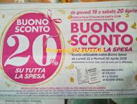 Logo Famila Buono sconto del 20% su tutta la spesa
