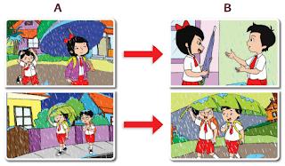 perbedaan pada gambar A dan gambar B www.jokowidodo-marufamin.com