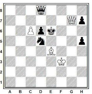Posición de la partida de ajedrez Overgaard - Bergson (Sandnes, 1988)