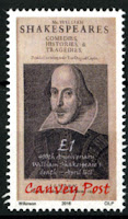 Canvey Local Post William Shakespeare Stamp