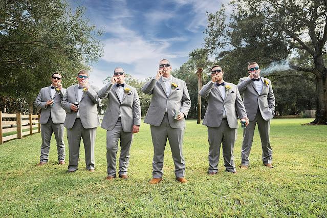 Groomsmen shot with sunglasses looking cool Magnolia Manor Wedding Photos by Stuart Wedding Photographer Heather Houghton Photography