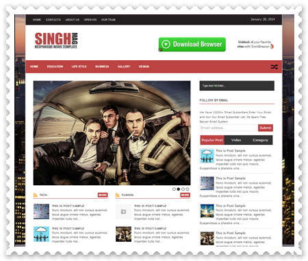 Singh Mag V2 - SEO Fast Responsive Blogger Template