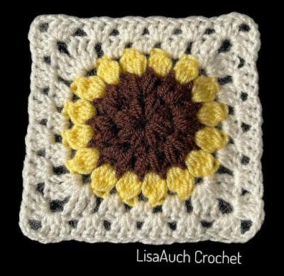 crochet flower granny square pattern