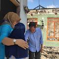 Hipni Kunjungi Rumah Janda di Way Panji Yang Terbakar