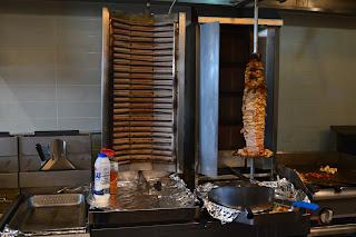 Manouche Mediterranean Grill Express shawarma spit Guelph blog
