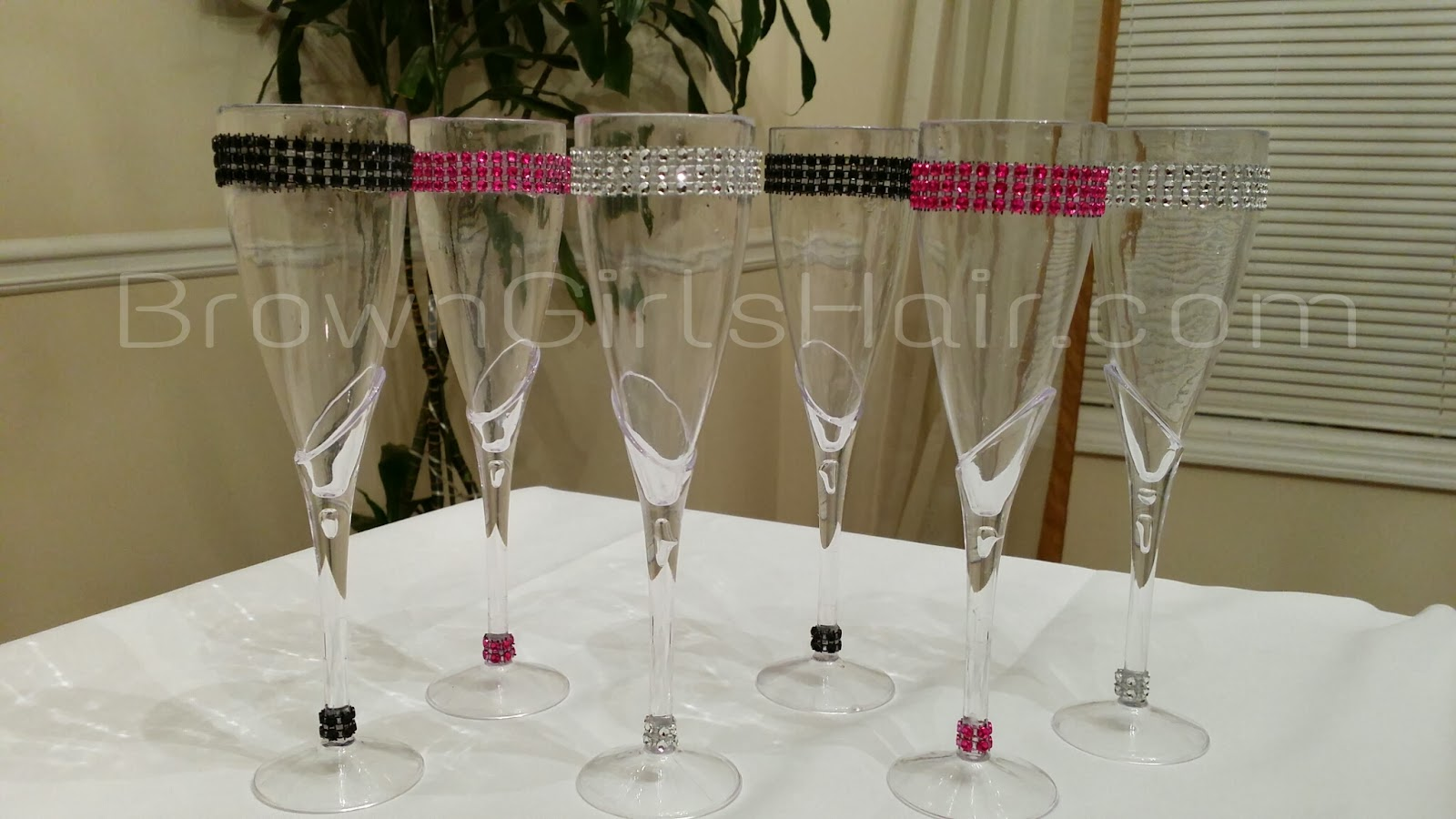 Brown Girls Hair Diy Bling Party Decorations Using Dollar Store