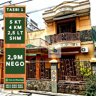 Jual Murah Rumah 2,5 Lantai Di Komplek Taman Setiabudi (Tasbi) Medan Sumatera Utara
