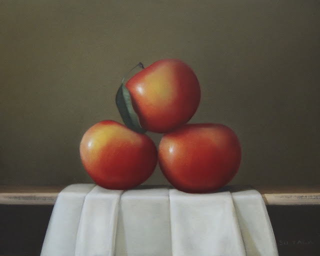 red apple oil painting
