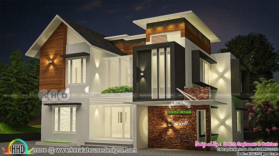 Modern Side Elevation rendering