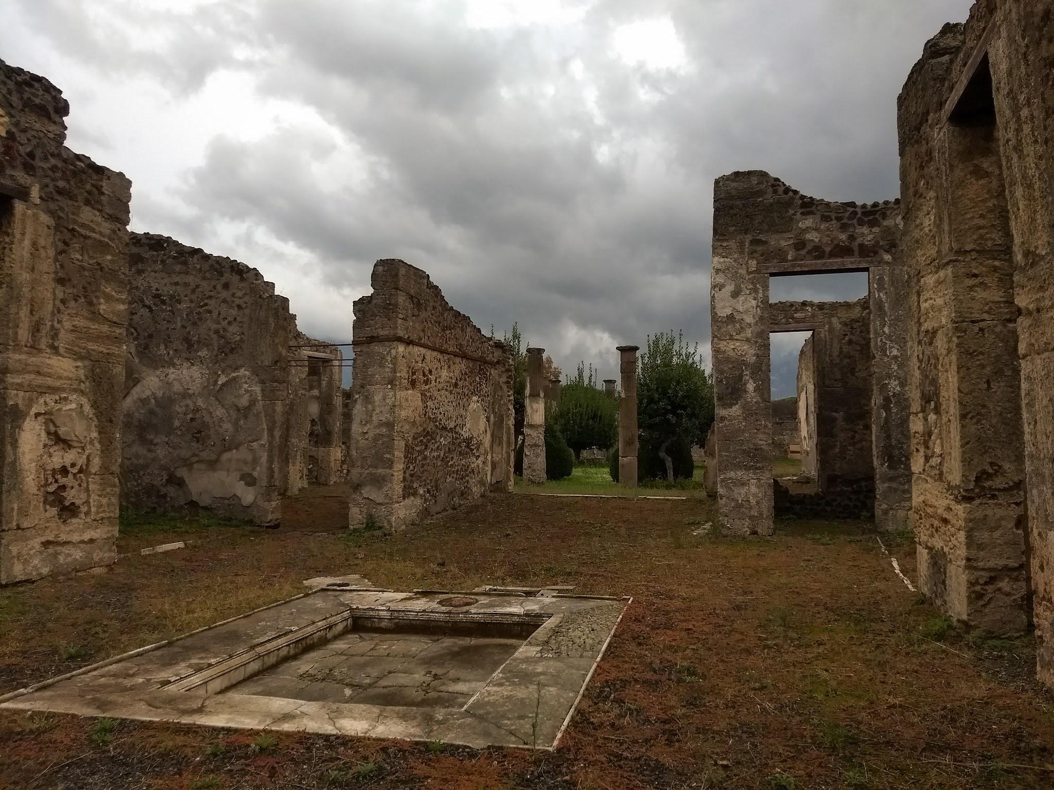 The House of Cornelius Rufus in the historic site of Pompeii.