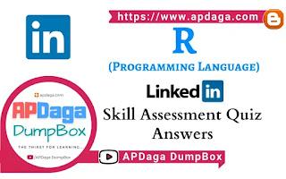 LinkedIn: R (Programming Language) | Skill Assessment Quiz Solutions | APDaga Tech