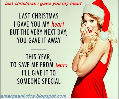 last christmas i gave you my heart Lyrics
