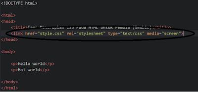 Cara Menerapkan CSS Pada HTML Untuk Pemula