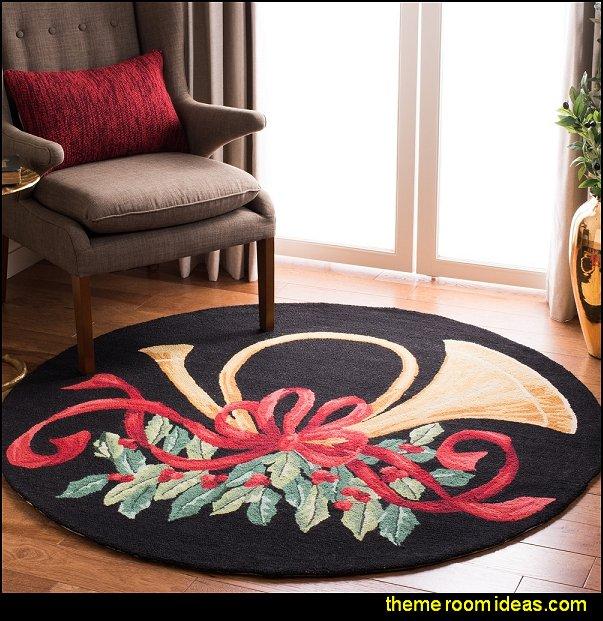 christmas rugs SAFAVIEH Holiday Hand-hooked Vintage Poster Mireia Wool Rug