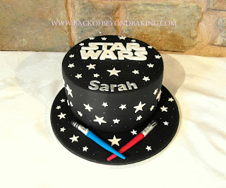 starwars lightsaber cake
