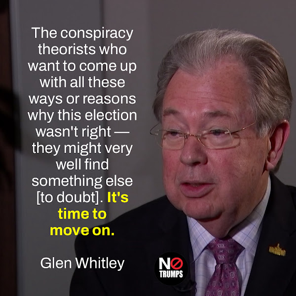 The conspiracy theorists who want to come up with all these ways or reasons why this election wasn't right — they might very well find something else [to doubt]. It's time to move on. — Tarrant County Judge Glen Whitley, a Republican