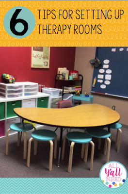 Top 6 tips for setting up a speech & language therapy room in the schools that is student-centered, efficient, and fun