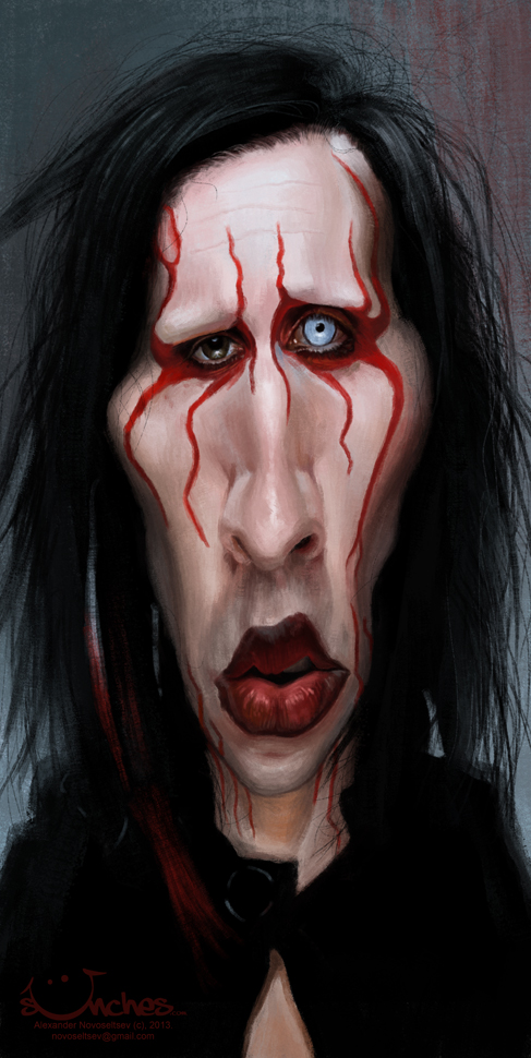 """""""Marilyn Manson"""" por Alexander Novoseltev"""