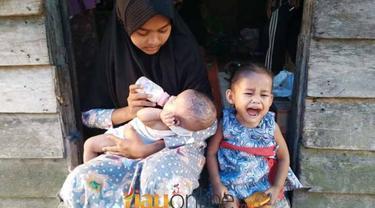 Kisah Haru Gadis Cilik Andini Merawat Dua Bayi di Dusun Telayap