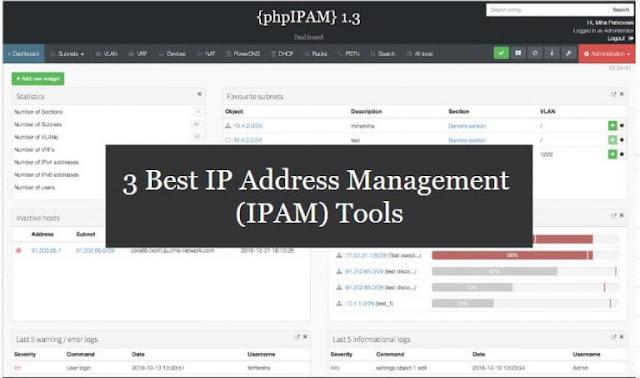 ثلاث أفضل حلول لإدارة عناوين الايبي باستخدام IPAM