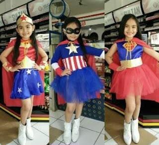jual kostum anak superhero karakter wonderwoman