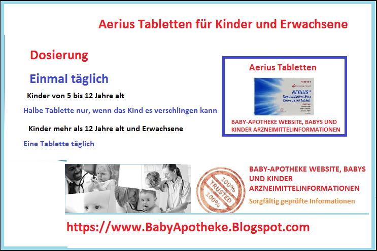 Aerius (neoclarityn) Tabletten für Kinder und Erwachsene - Baby ...