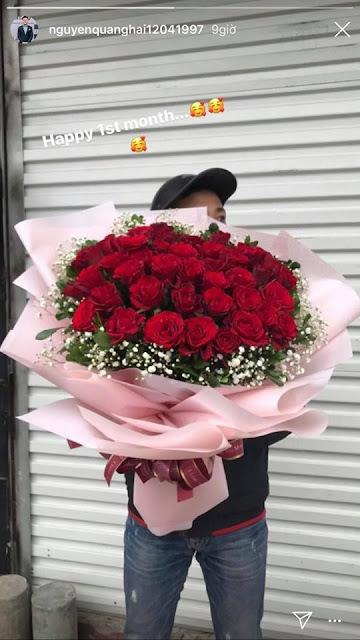 Kỉ niệm 1 tháng yêu nhau, Quang Hải tâm lý tặng quà 'khủng' cho Huỳnh Anh