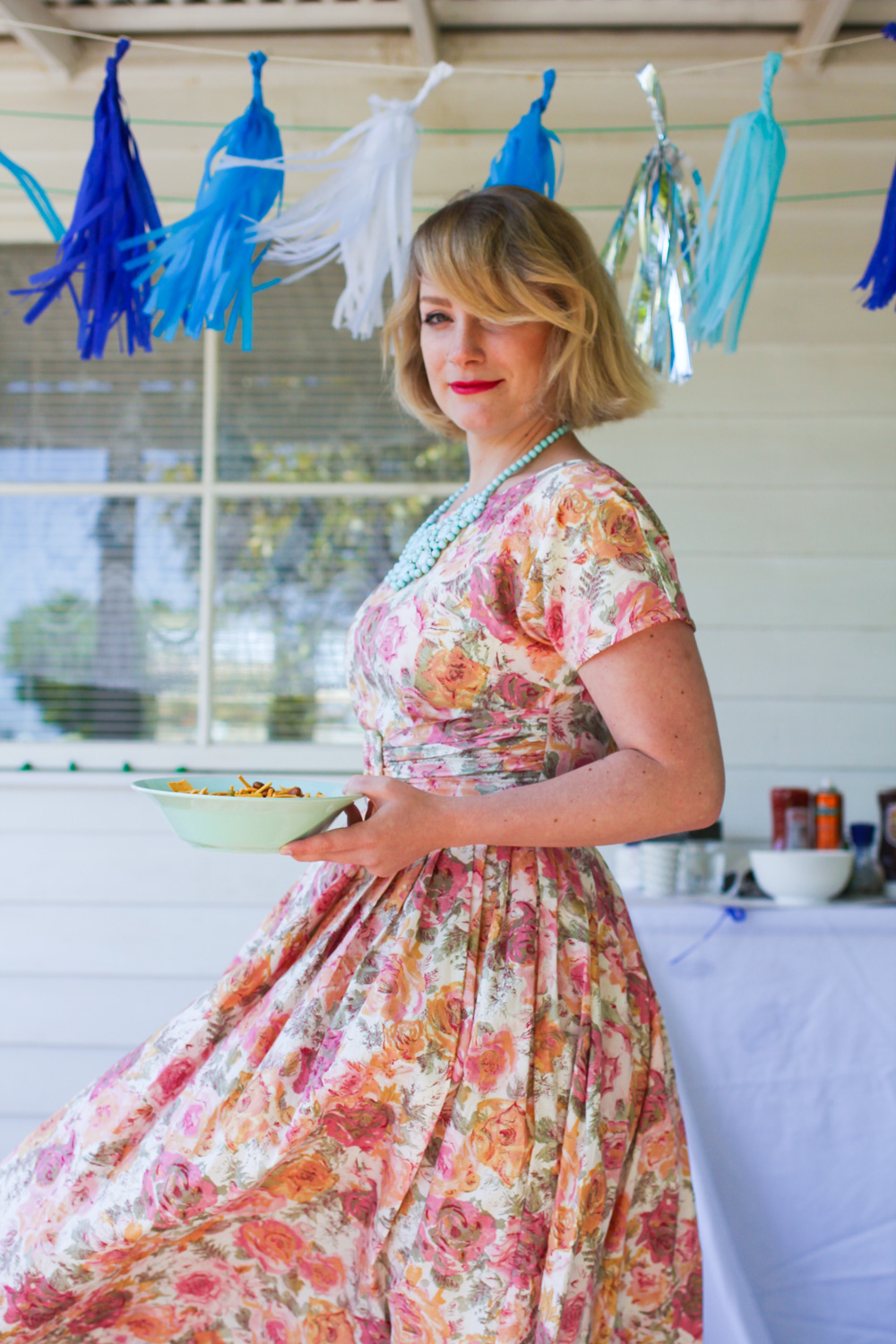 @findingfemme wears Lazybones summer dress from Lark.