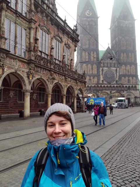 Ratusz w Bremen z katedrą w tle