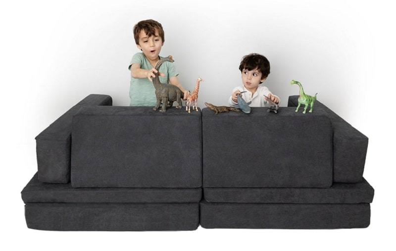 kids playing with the whatsie couch