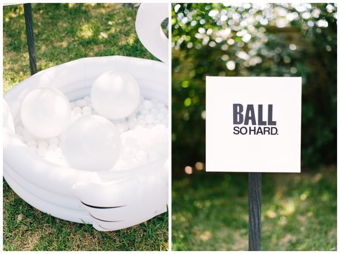 Ball So Hard A Pun From Rap Song Was Our Sign For The Pit Area One Year Old Parties Are Little To Find Things That Entertain