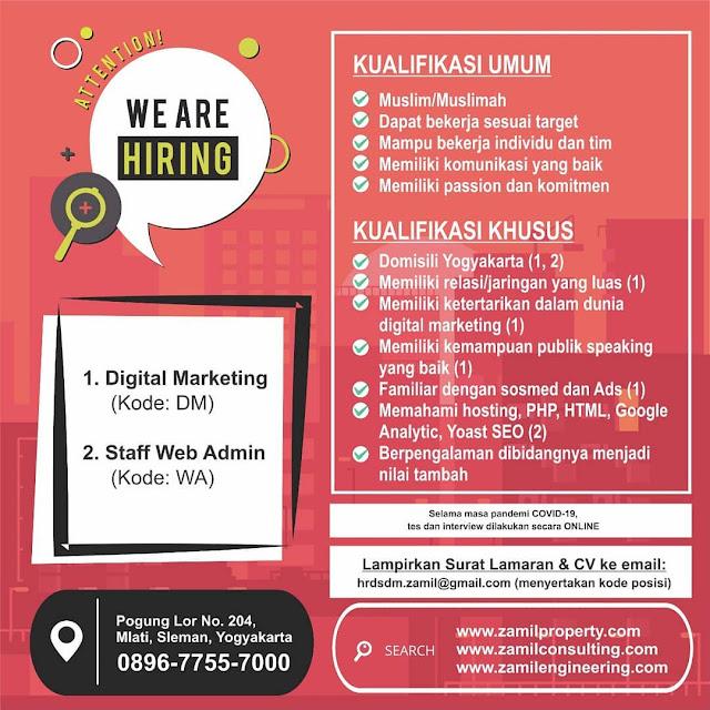 Lowongan Kerja Staff Web dan Digital Marketing