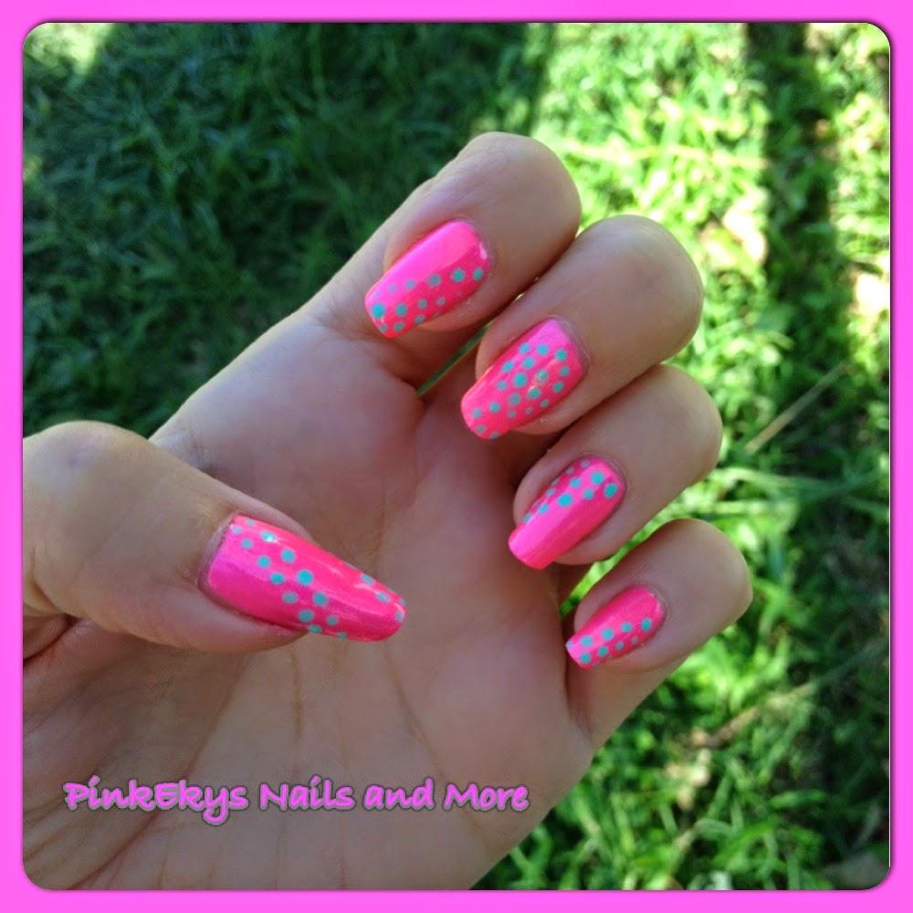 Popolare Pinkekys : Nail Tutorial: Optical Effect Pink Dots KX58