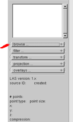 Select directory to  create shape file from LiDAR data