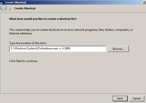 Lệnh shutdown máy tính windows 7