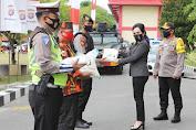 Kapolda Kalteng bersama Komisi III DPR RI Lepas Pendistribusian 3000 Masker