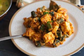 bhindi and paneer recipe