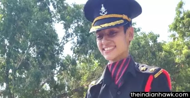 Nitika Kaul after passing out from the Officers Training Academy in Chennai on Saturday.