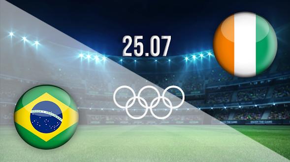 Live streaming Brazil vs Ivory Coast Olympic Tokyo