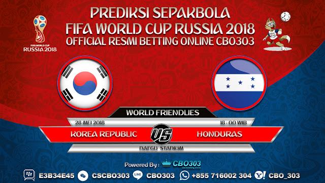 Prediksi Bola Korea Republic VS Honduras 28 Mei 2018